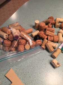 Saved wine corks from your adventures
